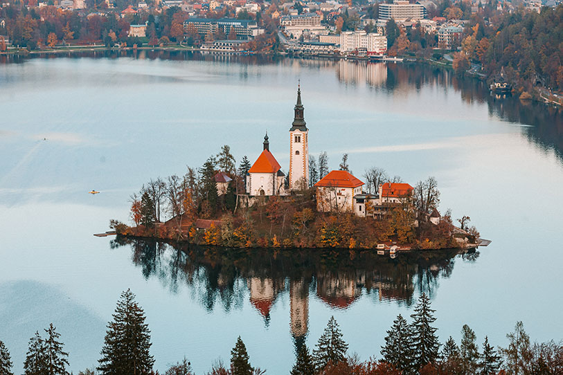 The Church of the Assumption is one of Lake Bled's biggest attractions.