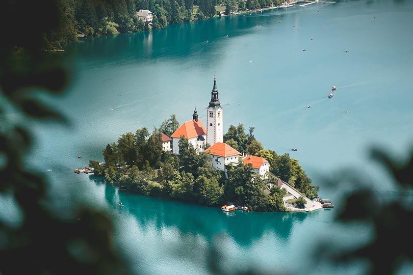 Amazing church on Lake BLed Island - perfect place to get merried