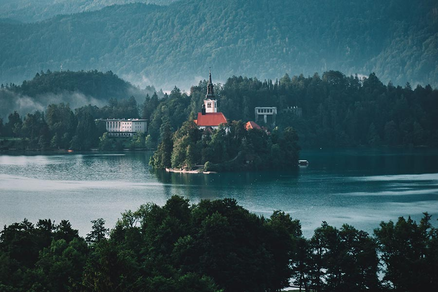 Amazing Lake Bled island