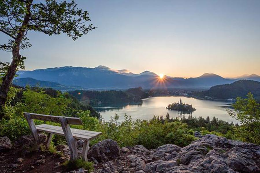 Best place to take a photo around Lake Bled