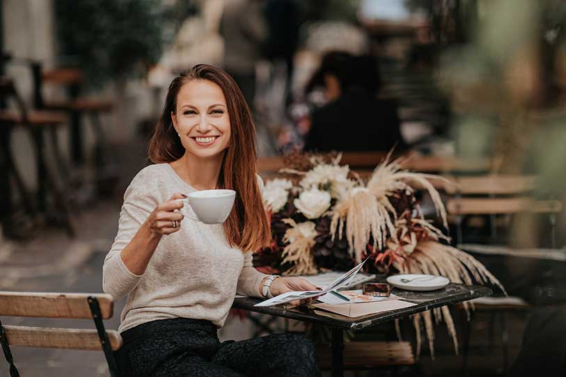 Wedding planner Petra Starbek from Lake Bled Weddings want to chat with her clients in person or over a video call before decision to work together is made.