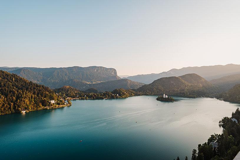 Beautiful Lake Bled in Slovenia - top destination wedding location