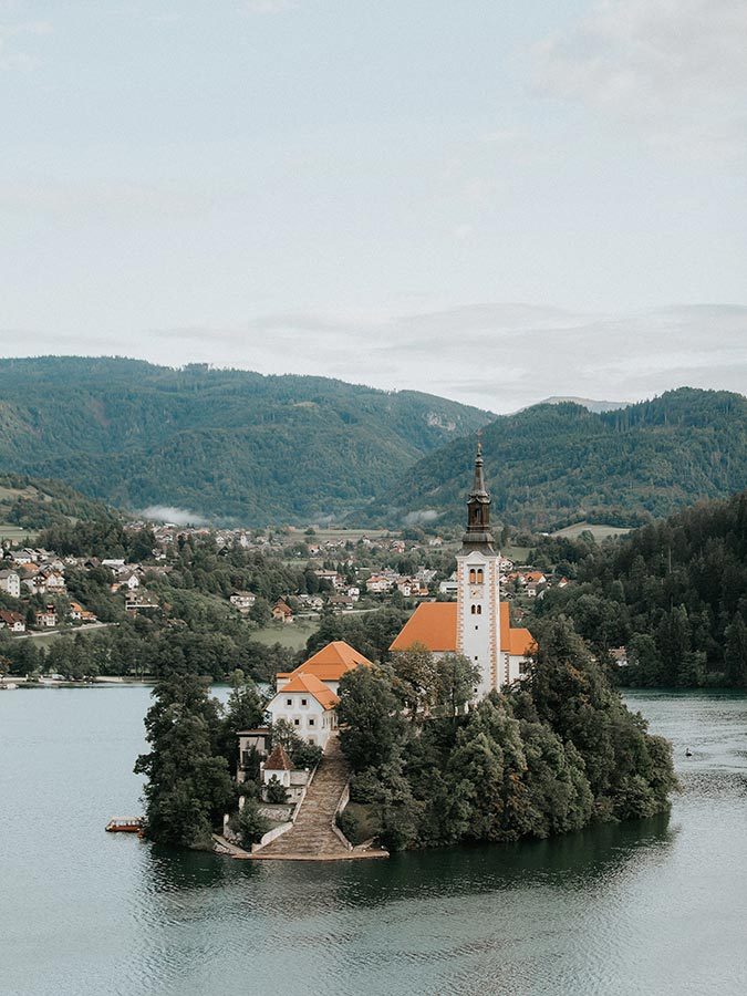 Bled Island is the centerpiece of Lake Bled. To get here, you will have to get out on the water…and this is one of the best experiences to have at Lake Bled