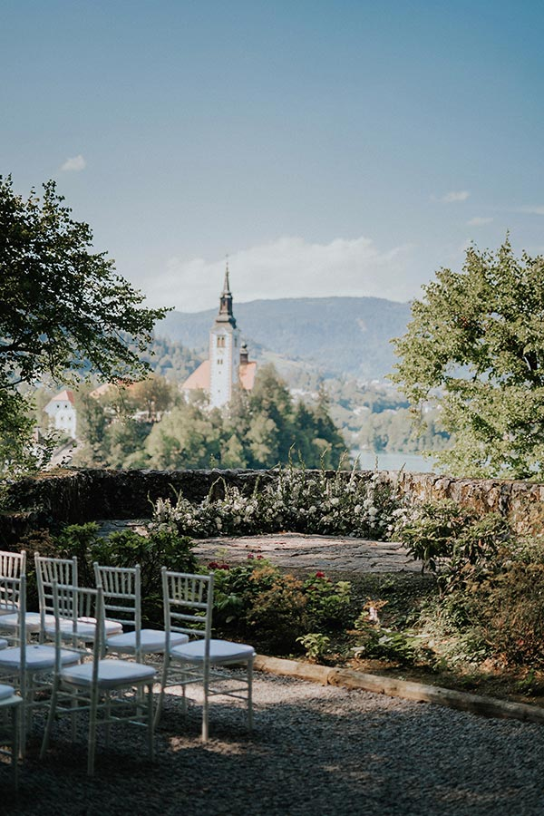 Beautiful Lake Bled wedding venue Vila Bled - perfect spot for destination wedding