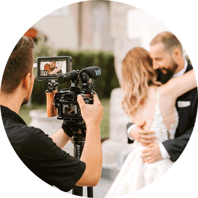 Slovenian best wedding videographer Storija Film capturing the wedding day somewhere around Lake Bled, Slovenia.