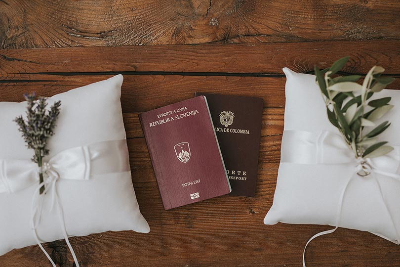 Legal requirements and documents for Lake Bled Wedding - passports, ID cards, birth certificates