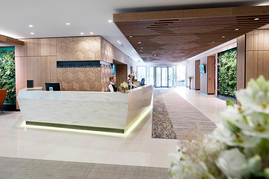 Contemporary hotel Rikli Balance in Lake Bled with stunning views and wellness spa facilities