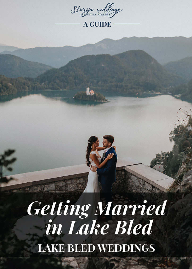 A list of Lake Bled's most popular wedding venues and amazing location for wedding photos.