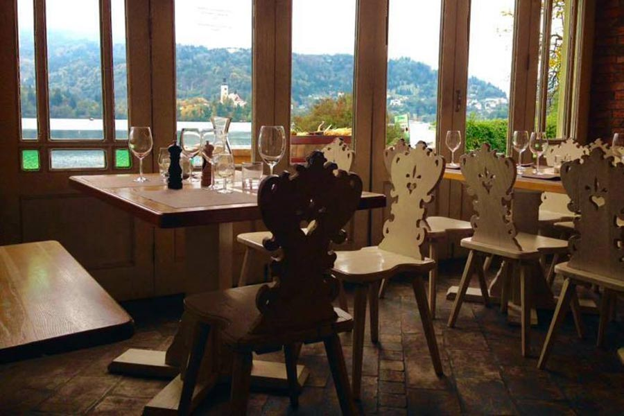 Restaurant Sova at Lake Bled